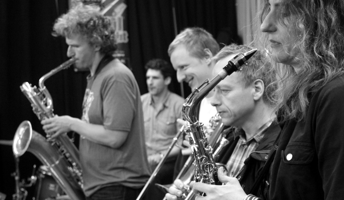 The Souldiers at rehearsal 20 years with the FAT HORNS